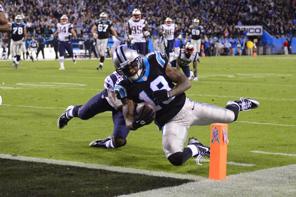 Ted Ginn scored the winning touchdown against the Patriots in the final minute.