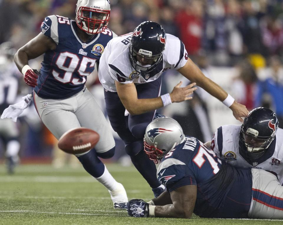 Nothing went right for the Texans during their visit to Foxborough last year, including this first-quarter fumble by Matt Schaub, and that was the beginning of the end for the team, writes Dan Shaughnessy.