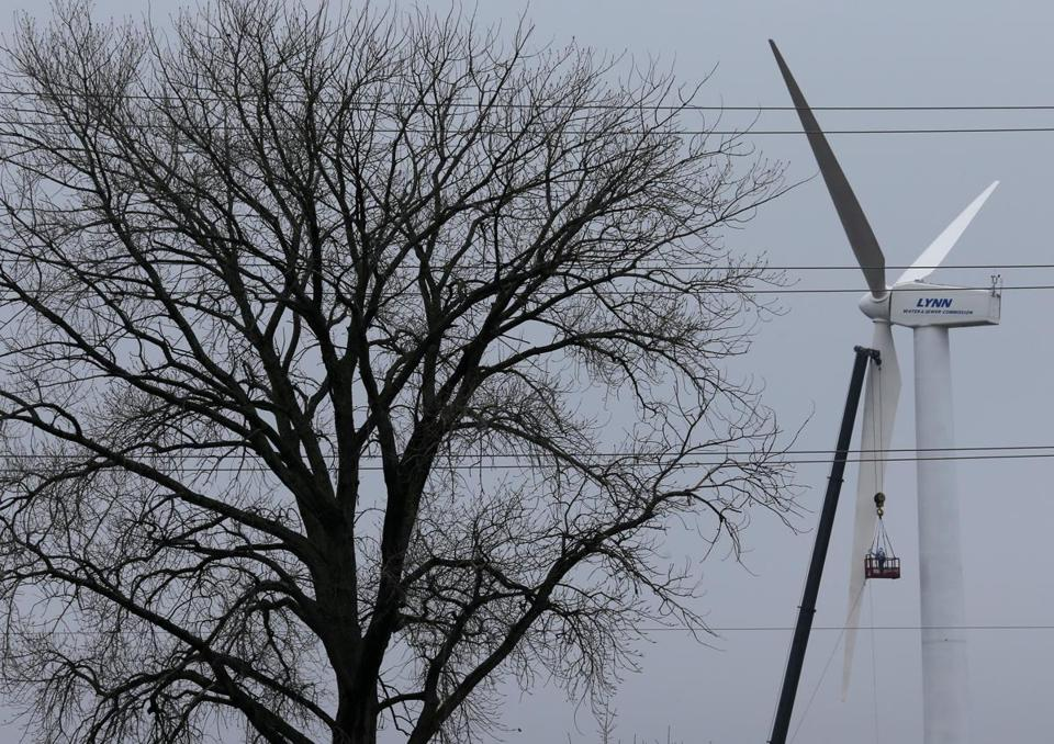 Lynn's first wind turbine, which should save the city around $60,000 a year, is up and should soon be running, generating about 1 million kilowatts  annually.