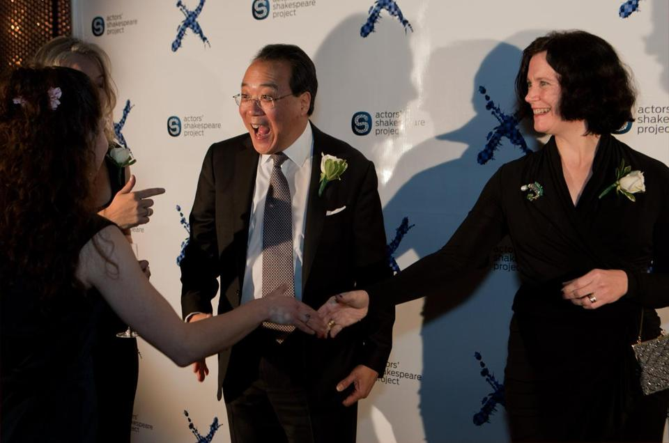 Yo-Yo Ma and Faith Parker at the Actors' Shakespeare Project 10th anniversary gala at the Royal Sonesta in Cambridge.