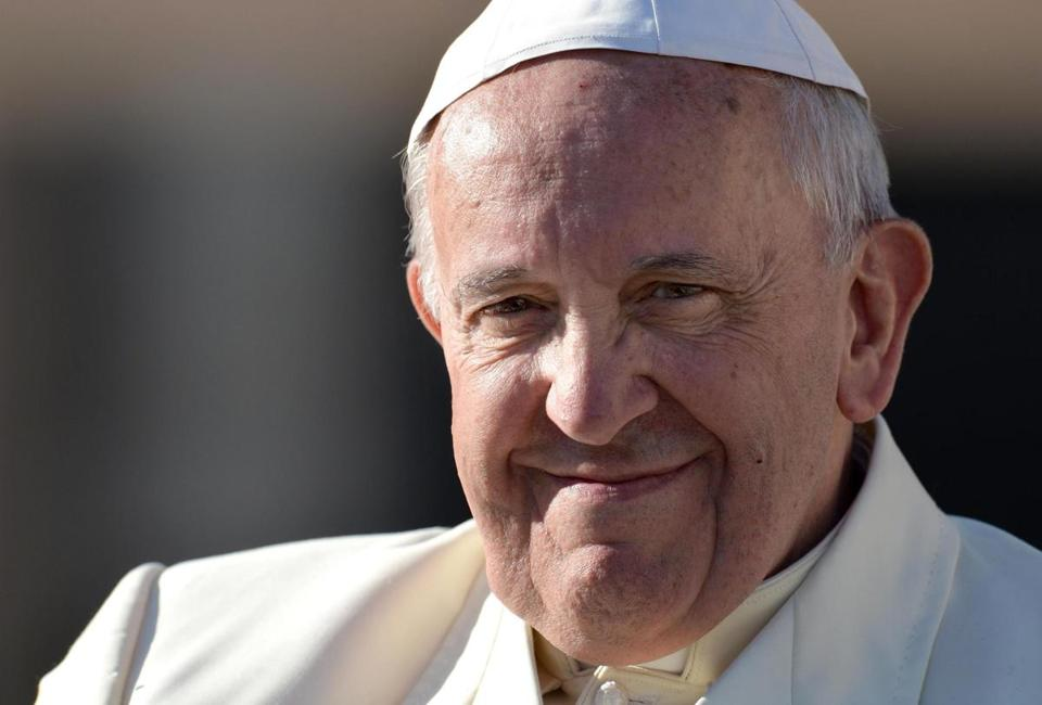 Pope Francis smiled on Wednesday, after his weekly General Audience in St. Peter's Square.