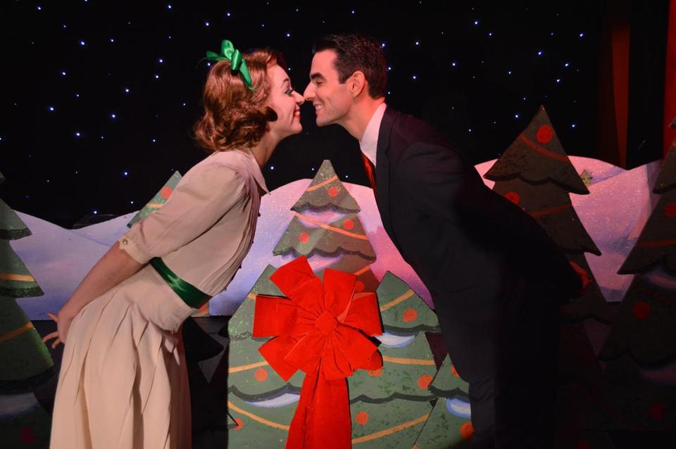 Jessica Barstis and Paul Melendy in Ryan Landry's holiday parody featuring the Gold Dust Orphans.