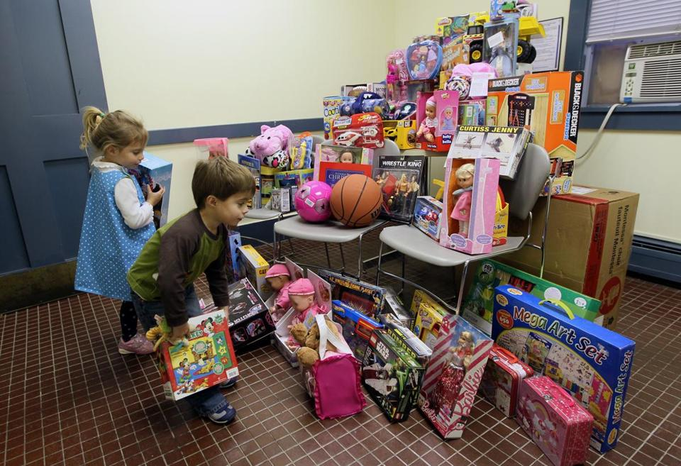 three year old twins from rowley donated toys to the danvers police department last - Toy Donations For Christmas