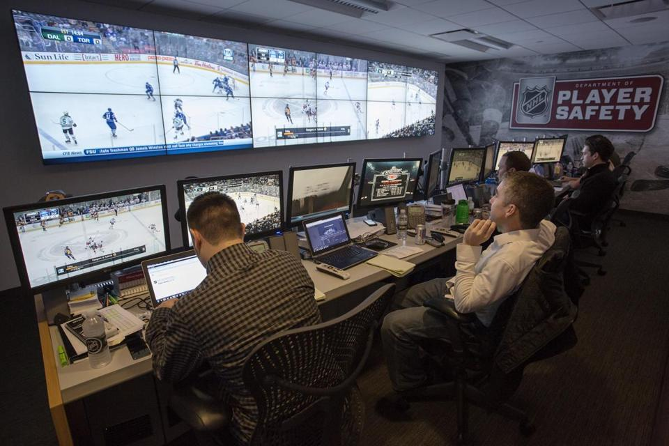 The staff at the Department of Player Safety watches every single NHL game, with some plays needing further review.