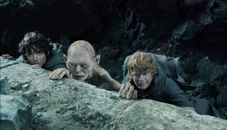 "From left: Elijah Wood, Andy Serkis, and Sean Astin in the 2003 movie ""The Lord of the Rings: The Return of the King."""