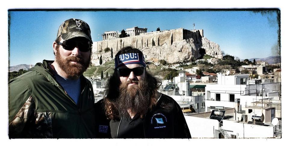 Delightful Matt Light (left) And Willie Robertson Of U201cDuck Dynastyu201d In Greece. Images