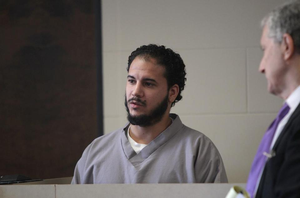Edwin Alemany entered a not guilty plea during his arraignment on first degree murder charges at Suffolk Superior Court on Dec. 11, 2013.