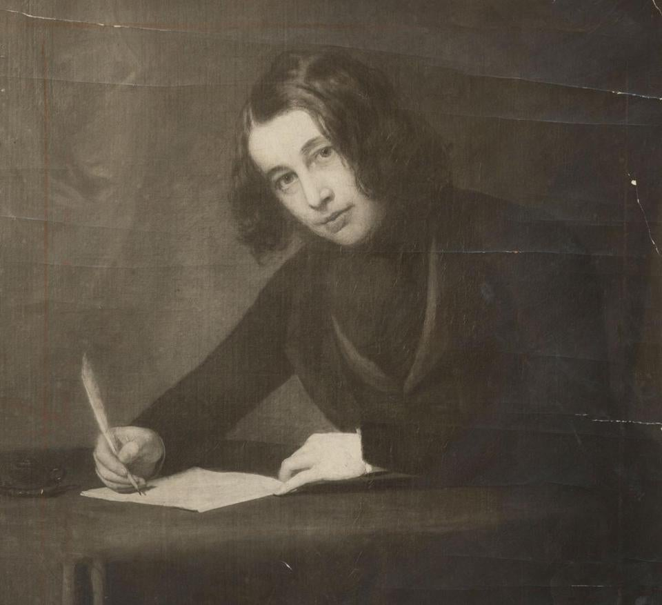 A young Dickens, in a portrait made during his 1842 Boston visit.