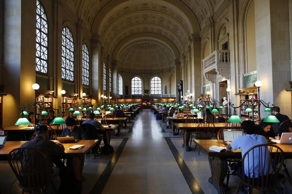 The Boston Public Library is part of the new Boston Literary Cultural District.