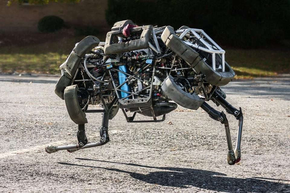 WildCat is a four-legged robot that can run at about 15 miles per hour. It is being developed by Boston Dynamics, a Waltham-based company acquired by Google on Friday.