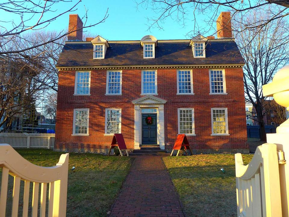 The Elias Hasket Derby House: Built circa 1727-30 on another site for Captain John Crowninshield, it was moved and restored in 1959-60 and now is a property of the Peabody Essex Museum.