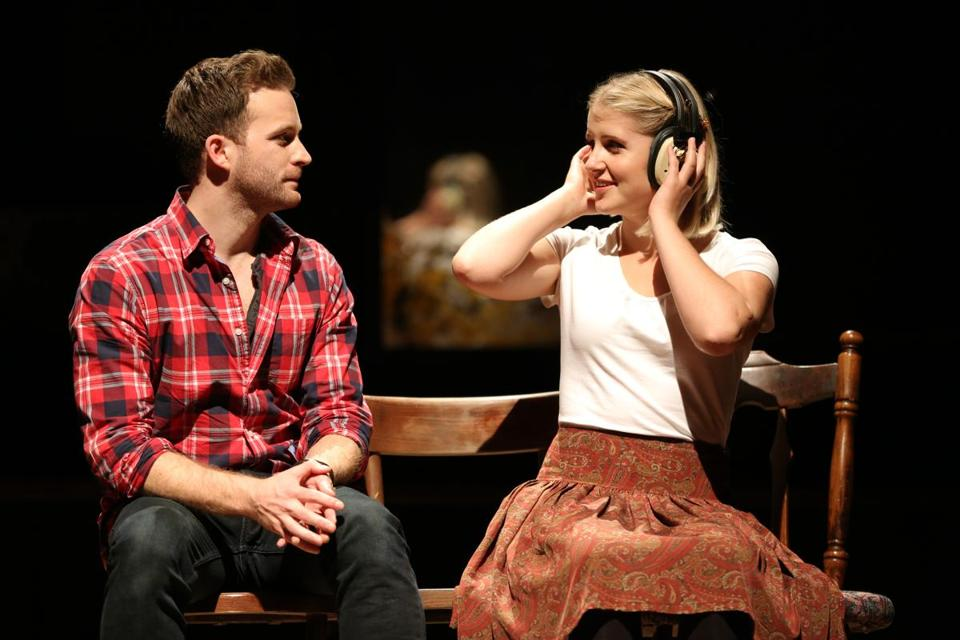 "Stuart Ward and Dani de Waal in Broadway in Boston's production of the musical ""Once."""