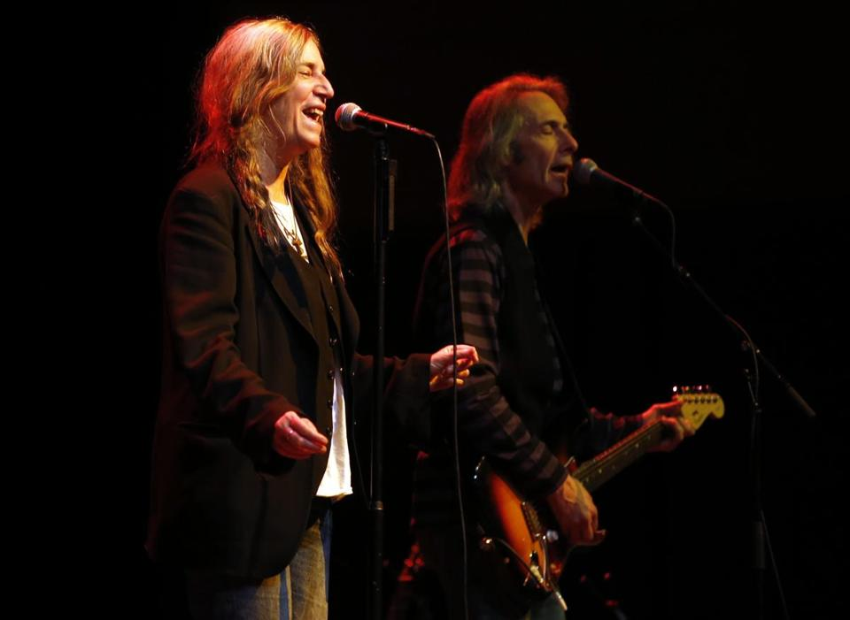 Patti Smith performed with her band on New Year's Eve at the Hynes Veterans Memorial Auditorium.