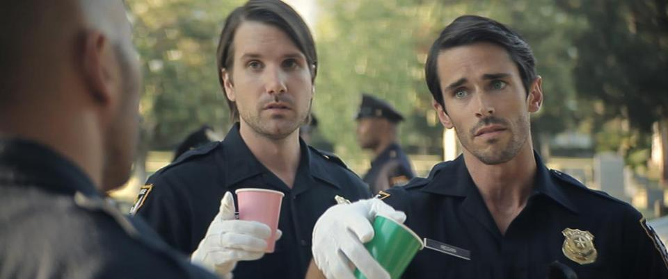 "Jon Lajoie and Joel Bryant in ""Wrong Cops."""