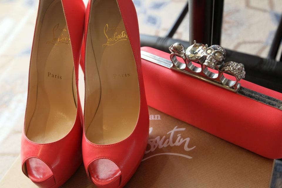 A pair of Christian Louboutins were set out for the client of a personal shopper at Saks Fifth Avenue.