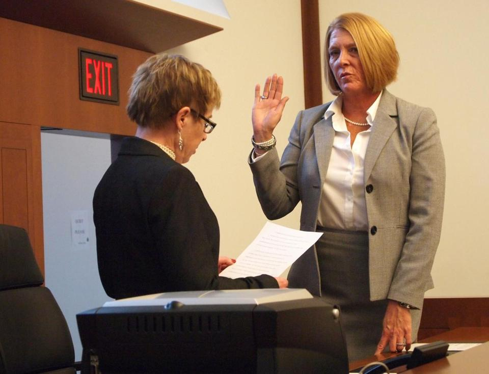 Patricia Campatelli was sworn in as register of probate by Paula M. Carey on Jan. 2, 2013.