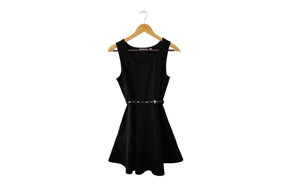 This simple black dress has been worn to many events.