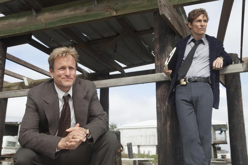 "Woody Harrelson (left) and Matthew McConaughey star in the new HBO series ""True Detective."""