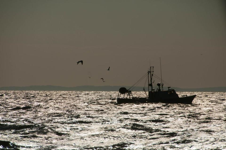 A commercial fishing trawler off the coast of Scituate. (John Clarke Russ Photo/The Nature Conservancy)