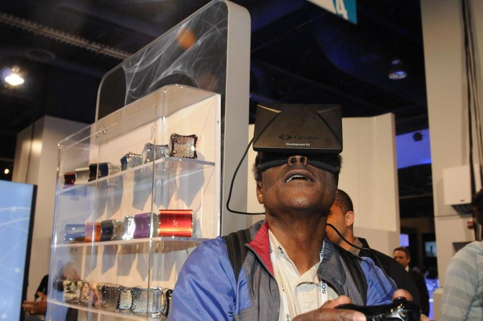 Hiawatha Bray was enamored with the Oculus Rift virtual reality goggles.