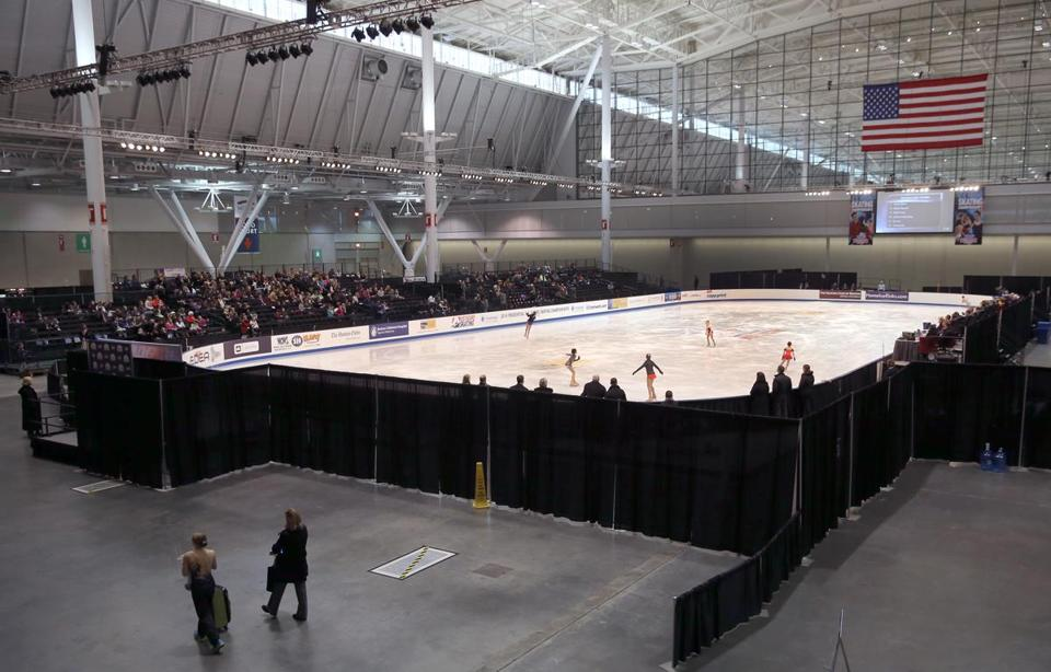 The Convention and Exhibition Center is hosting some junior competitions and practices for the US Figure Skating Championships.