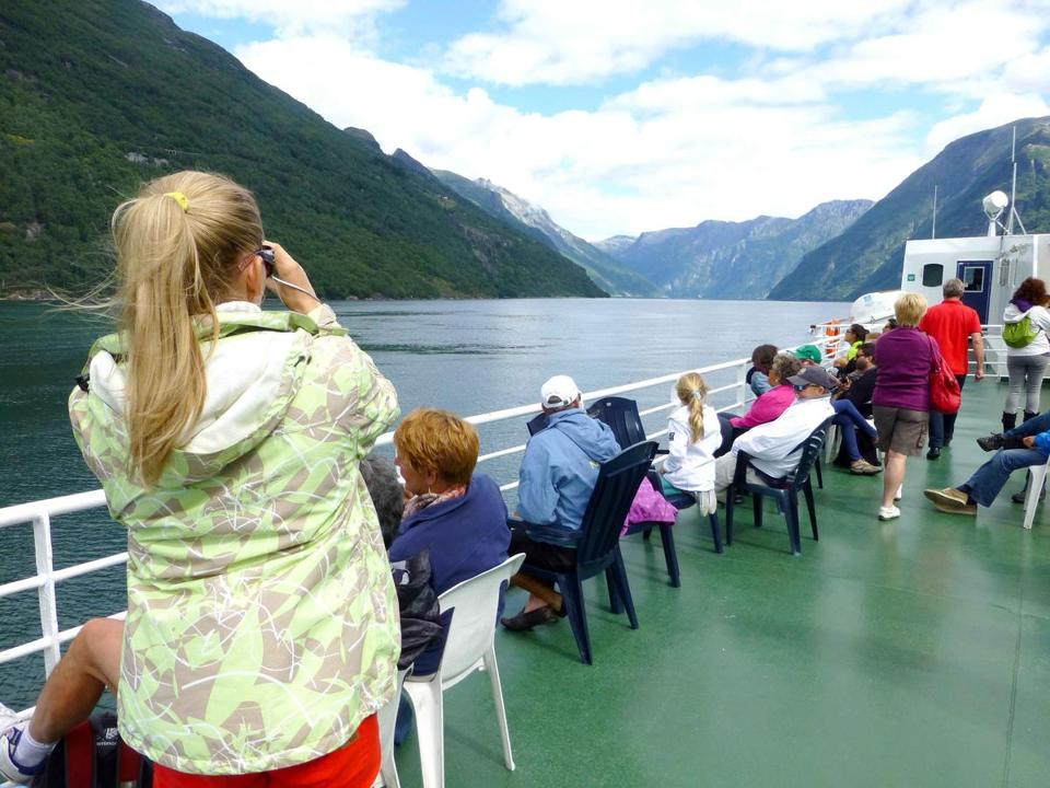 The Geirangerfjord is one of the world's longest, deepest, and narrowest.