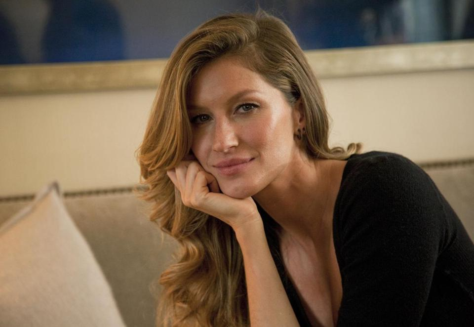 Brazilian supermodel Gisele Bundchen in New York.
