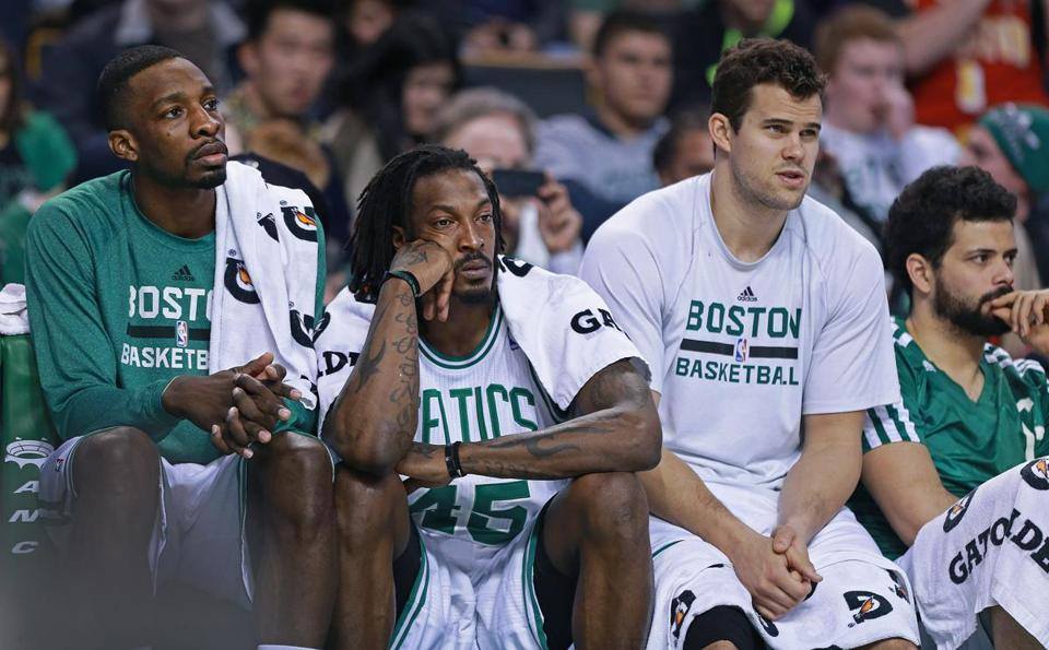 Gerald Wallace (45) and Kris Humphries (second from right) have been professionals this season.