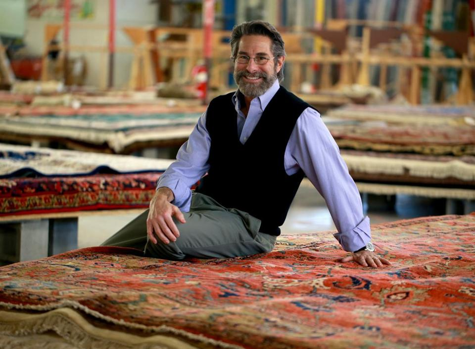 "Bill Elovitz said he began buying rugs because it let him ""deal with beautiful things."""