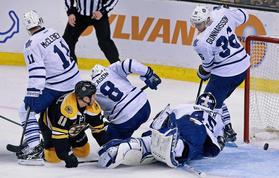 Photos maple leafs at bruins photo 12 of 25 pictures the gregory campbell was surrounded by toronto players in the third period but the shot by thecheapjerseys Image collections