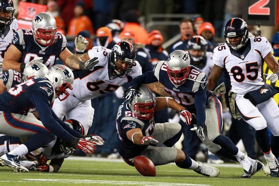 In an epic clash in November, the Patriots overcame a 24-0 halftime deficit by pouncing on two second-half Denver turnovers.