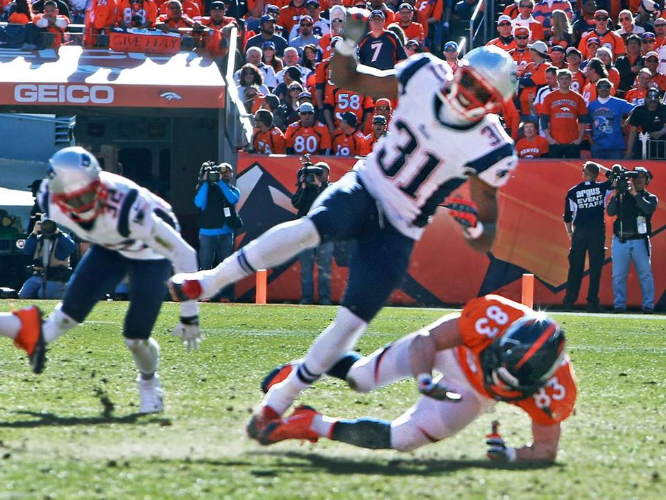 Bill Belichick contends that Wes Welker deliberately took out Aqib Talib on this play.