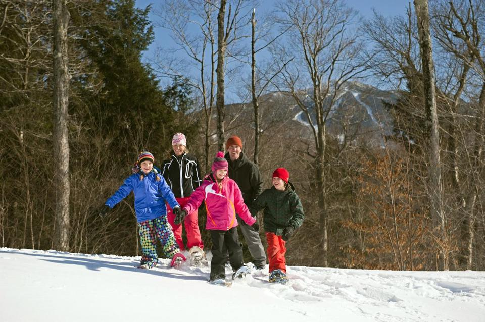 The skiers in the group can tackle three mountain peaks spread across more than 1,000 acres at Smugglers' Notch.