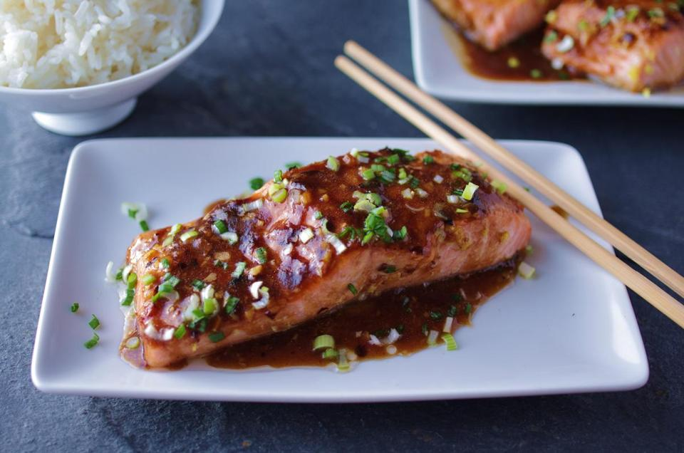 Recipe for roast salmon with black bean sauce the boston for Fish in black bean sauce