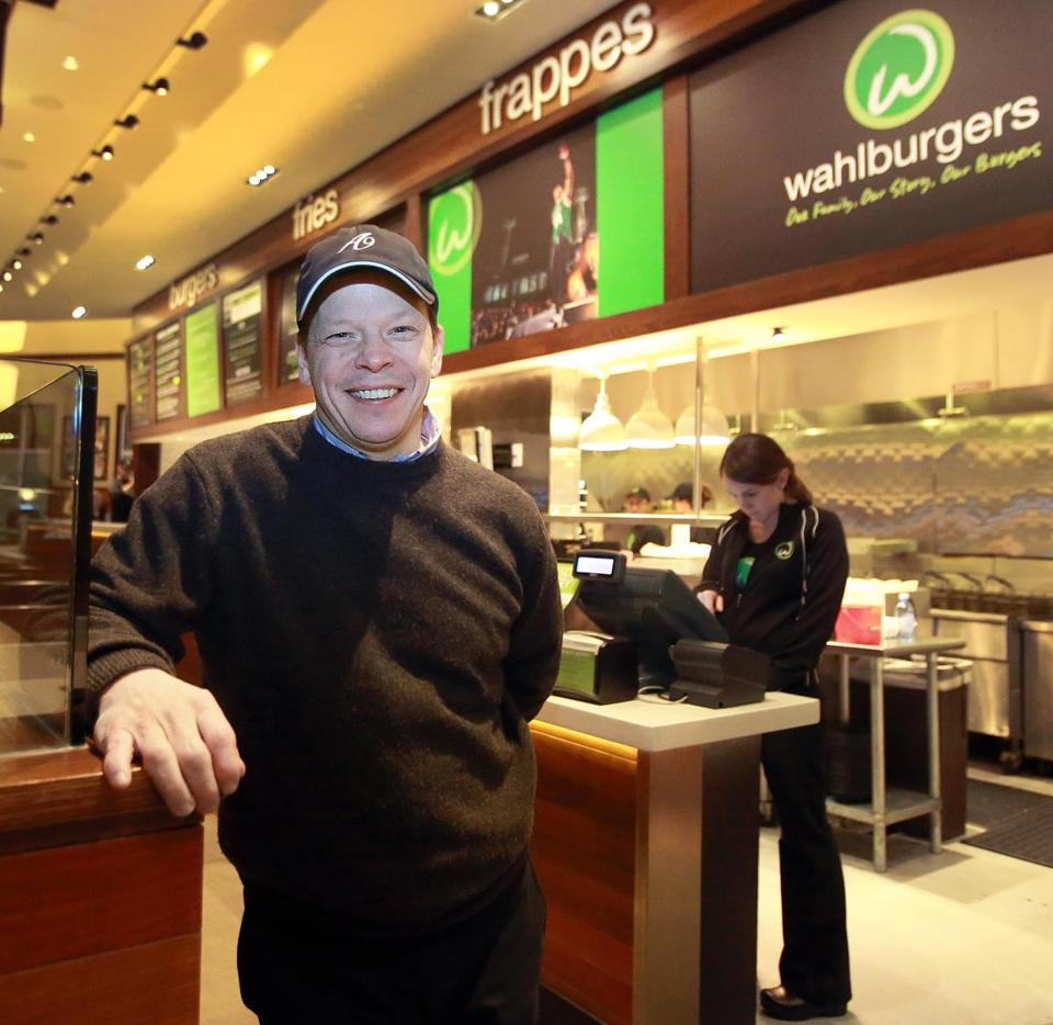 "Paul Wahlberg at his restaurant before the premiere party for his reality show ""Wahlburgers."""