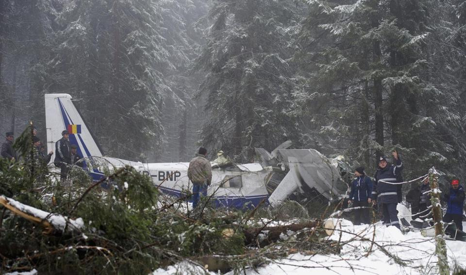 It took 4½ hours for villagers and a woodcutter to locate the plane in Transylvania, where it crashed on Monday.