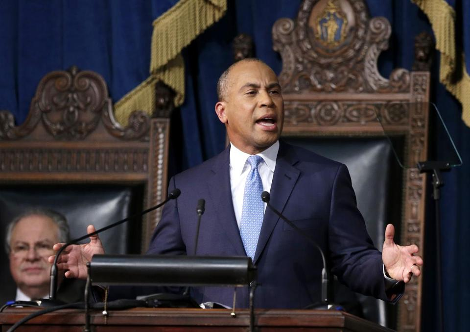 Governor Patrick delivered his State of the Commonwealth address in the House chamber at the State House.
