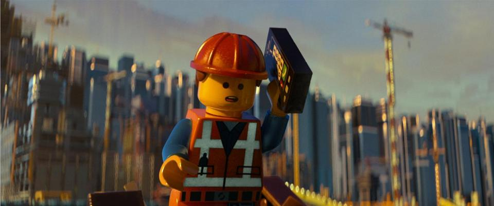 "Emmet (voiced by Chris Pratt) in ""The LEGO Movie."""