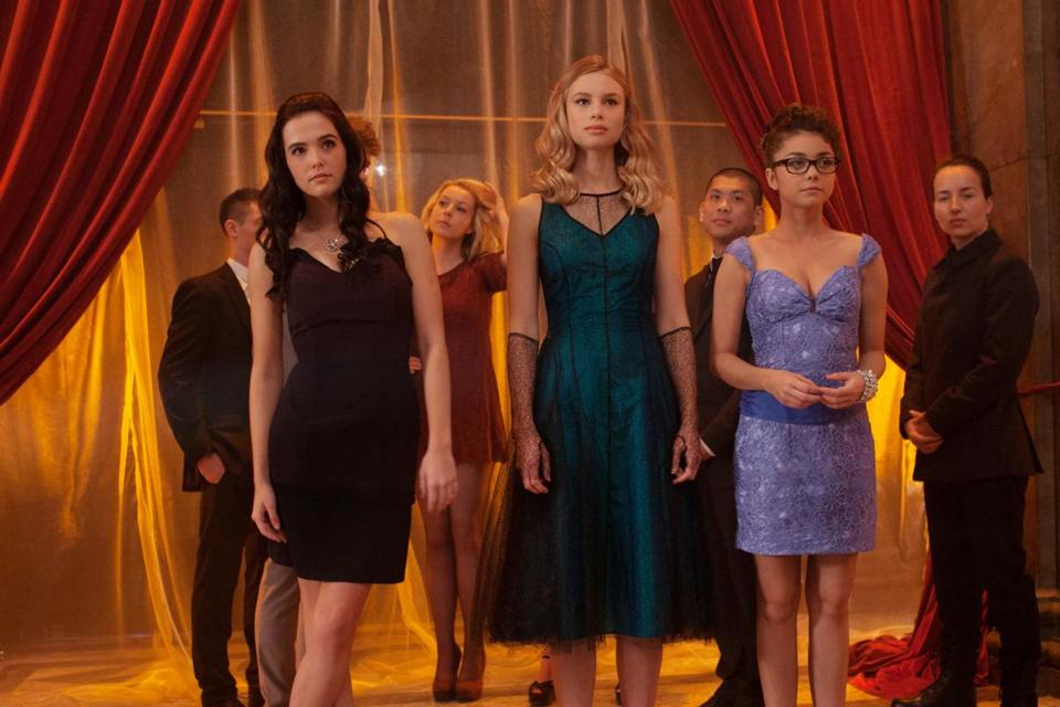 From left: Zoey Deutch, Lucy Fry, and Sarah Hyland.