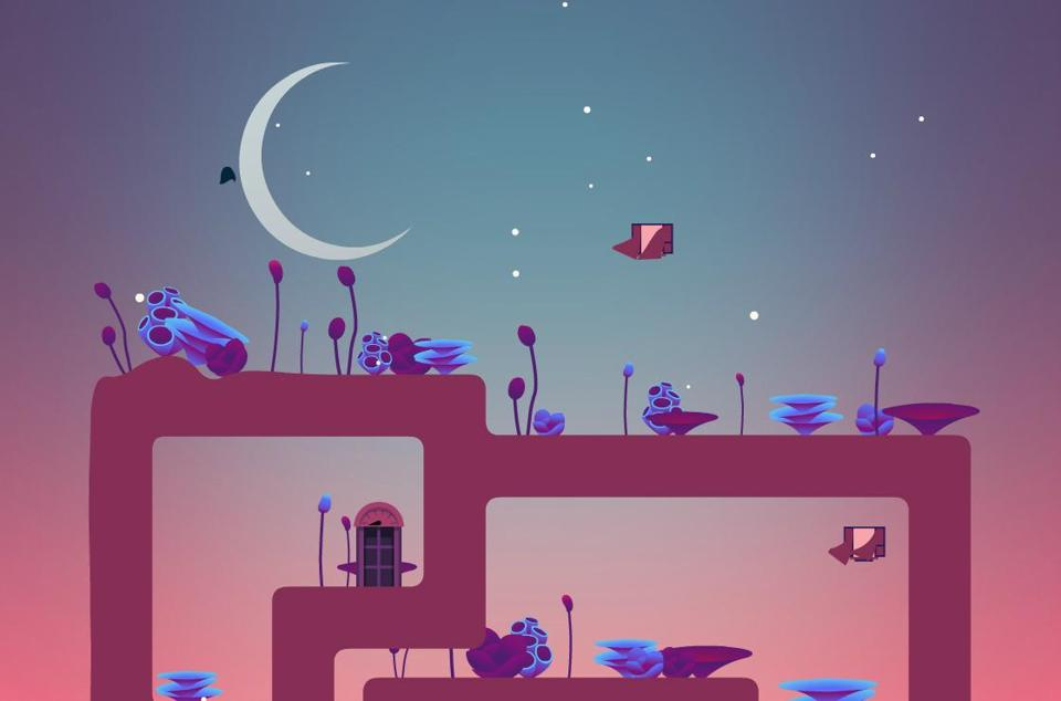 """The Floor Is Jelly,"" a new video game by the indie developer Ian Snyder."