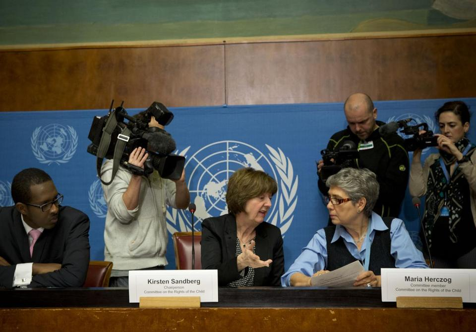 Members of the United Nations' human rights committee said Vatican policies enabled child sex abuse to go on for decades.