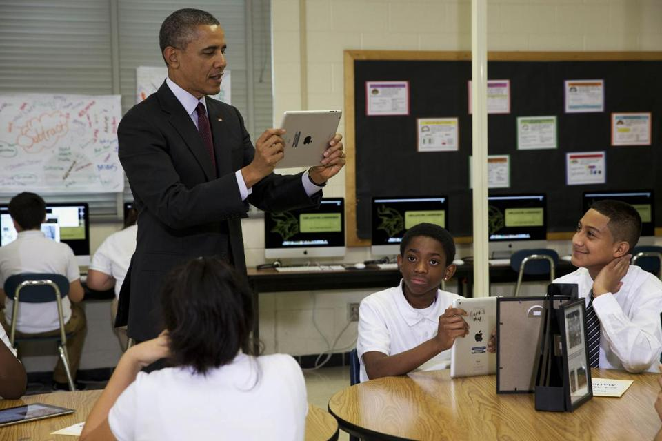 President Obama announced the new funding Tuesday at a Maryland middle school.