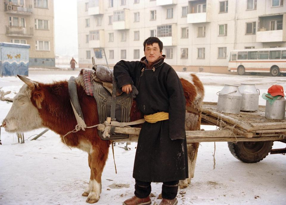 "An image from ""Moving with the Seasons: Portrait of a Mongolian Family."""