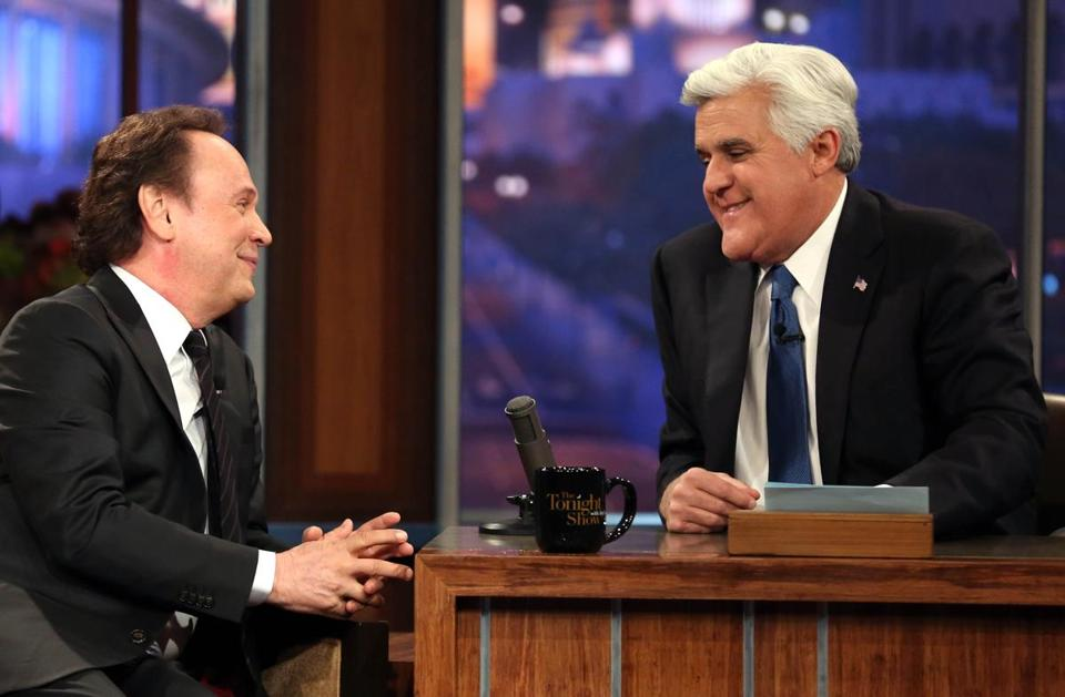 "Billy Crystal, who was Jay Leno's first guest on ""The Tonight Show"" in 1992, appeared during the final taping of the show with the Andover native at the helm."