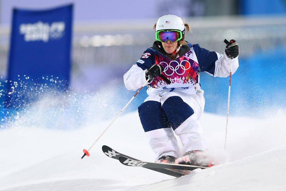 Hannah Kearney finished first in the qualifying for moguls Thursday. (Photo by Cameron Spencer/Getty Images)