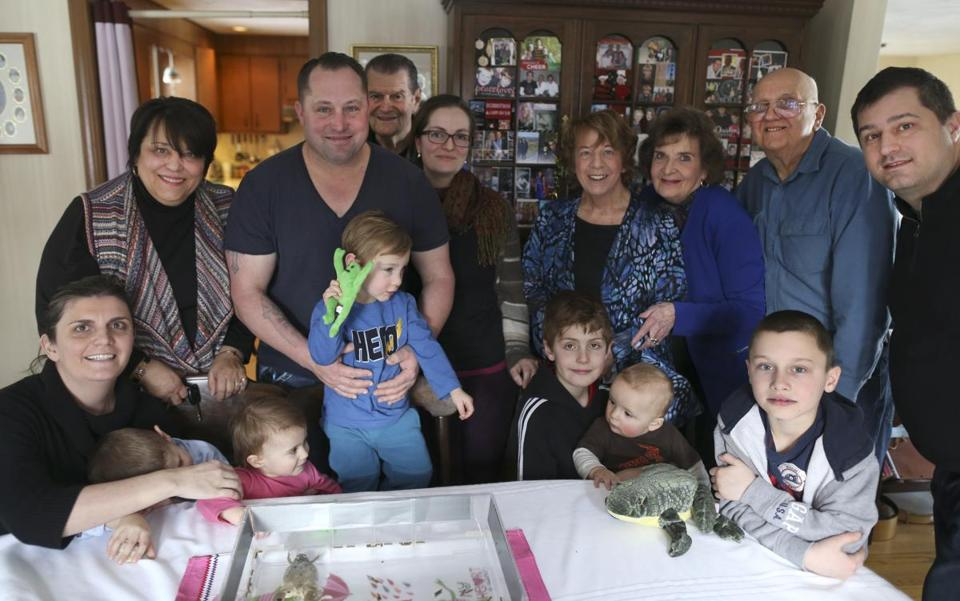 The Savio, Litterio, DiGiovanni, and DeAngelis families of Deborah Drive in Reading have been getting together for festive occasions for decades.