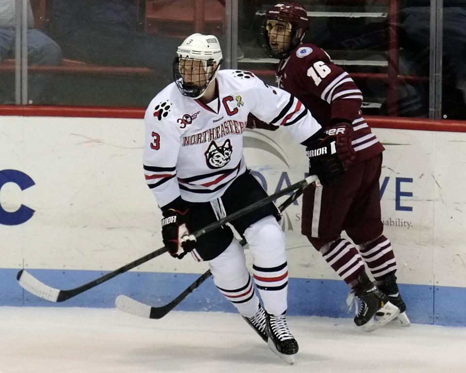 Northeastern captain Josh Manson and his teammates are seeking to win the school's first Beanpot since 1988.