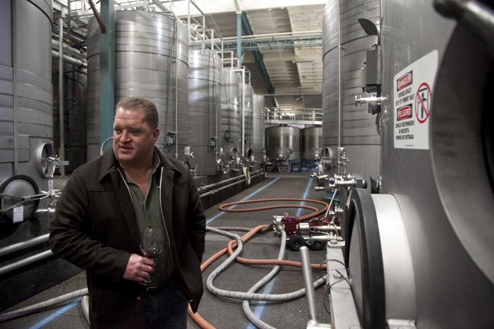 California winery executive Brian Hemphill lauds Cambrian's treatment system, which produces power.