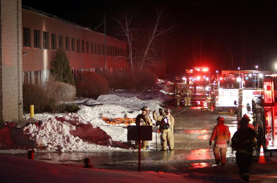 Emergency crews from several localities responded to an explosion at a ball bearing plant in Peterborough, N.H.