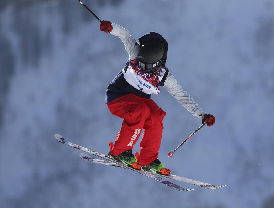 Devin Logan began skiing at age 2 and finds herself in the Olympics at 20. (AP Photo/Sergei Grits)